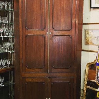 Double Height Georgian Mahogany Corner Cabinet