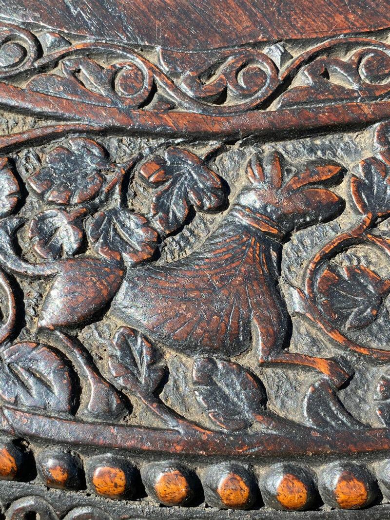 Carved Burmese Pedestal Table