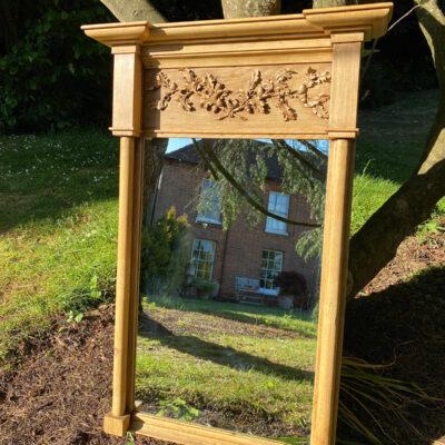 Carved Georgian Pine Pier Mirror