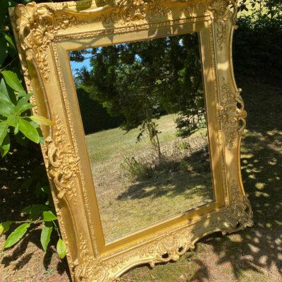 Gilt Gesso Framed 19c Mirror