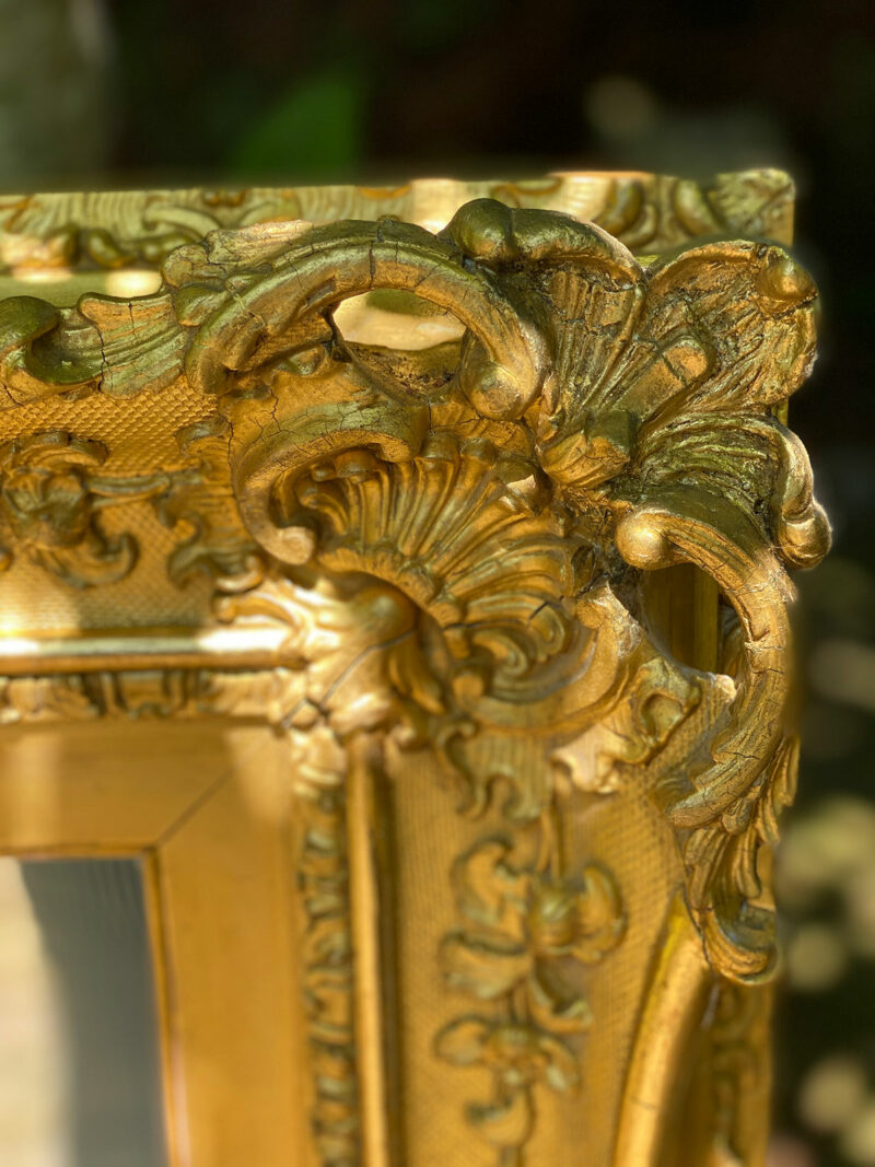 Gilt Gesso Framed 19c Mirror