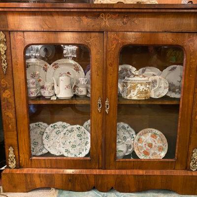 Double Inlaid Victorian Glazed Pier Cabinet