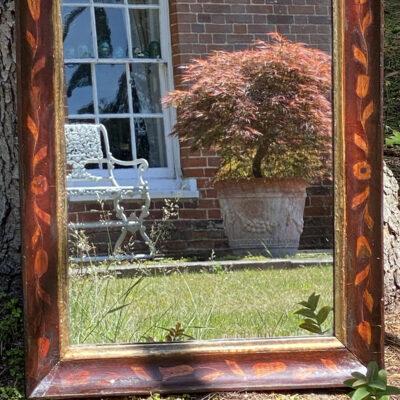 Early 19c Mahogany Mirror