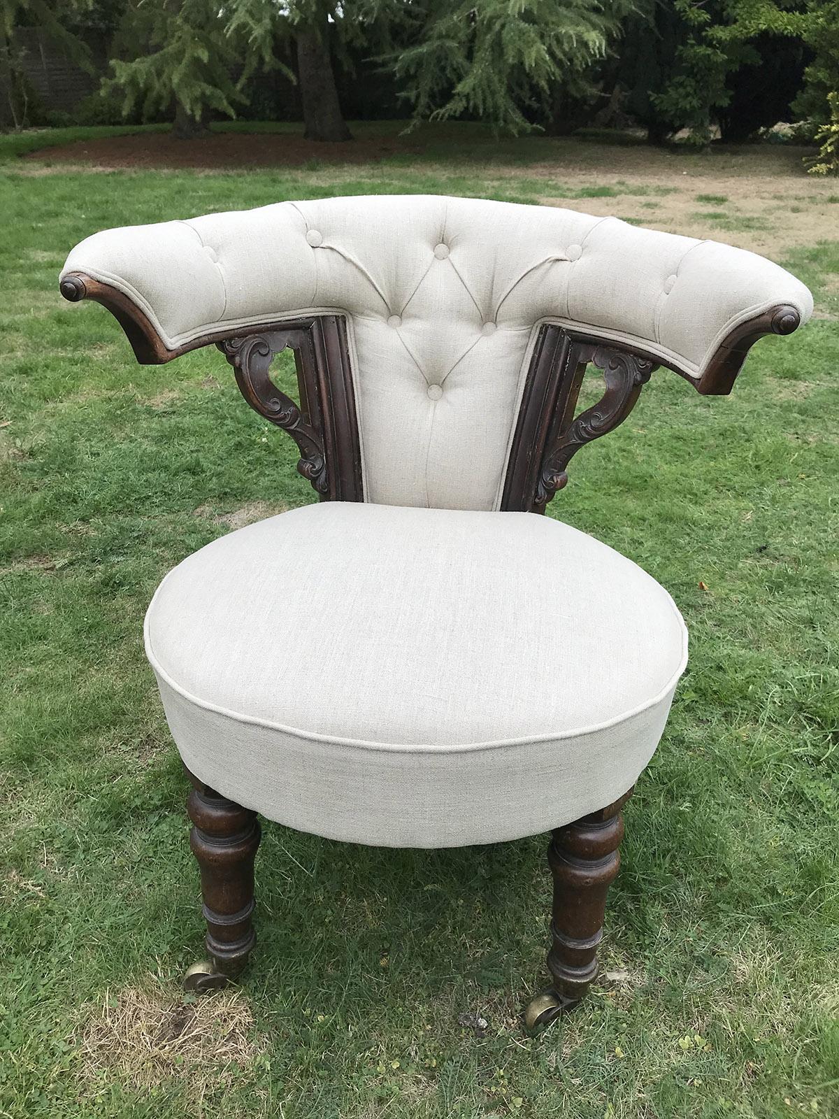 Victorian Mahogany Library Chair