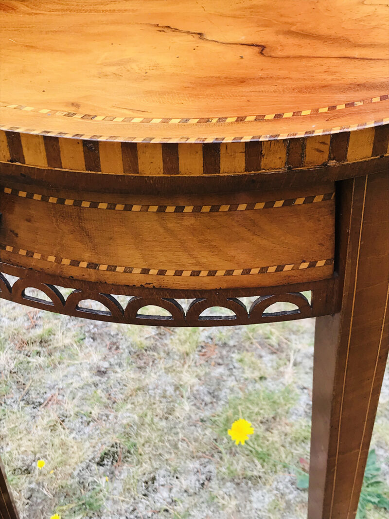 Early 20c Inlaid Side Table