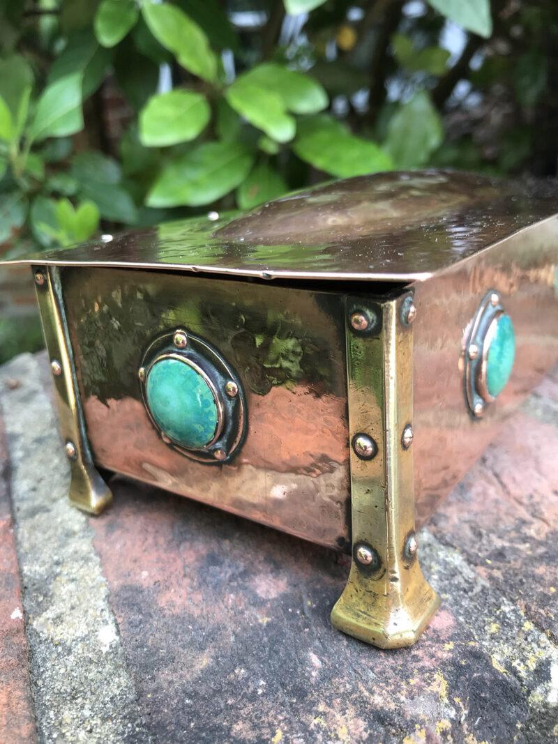 Arts & Crafts Copper & Brass Box