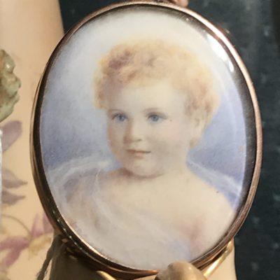 19c Miniature Painting on Ivory