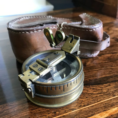 Brass Prismatic Compass by Stanley