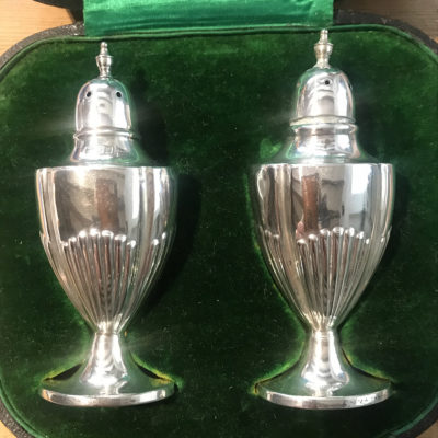Walker & Hall Boxed Pair of Solid Silver Pepperettes