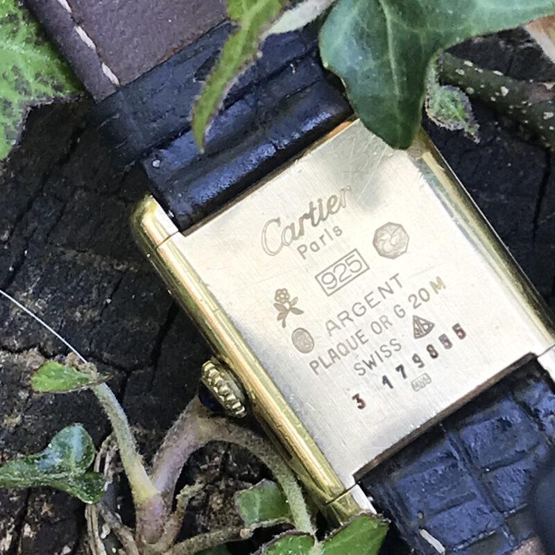 Must De Cartier Swiss Ladies Silver Gilt Tank Watch