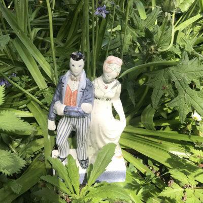Rye Pottery Flatback Staffordshire Couple