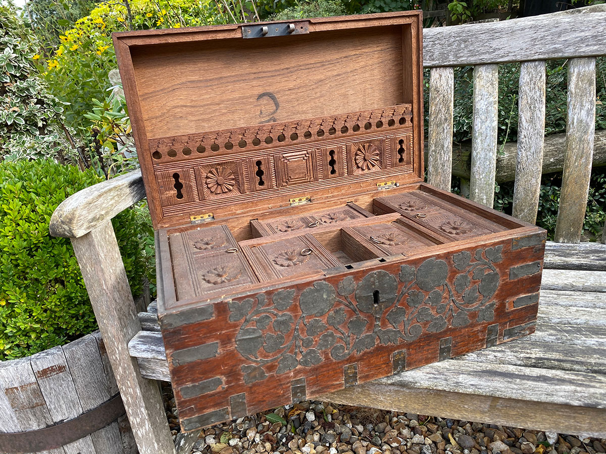 Carved Indian Spice Box