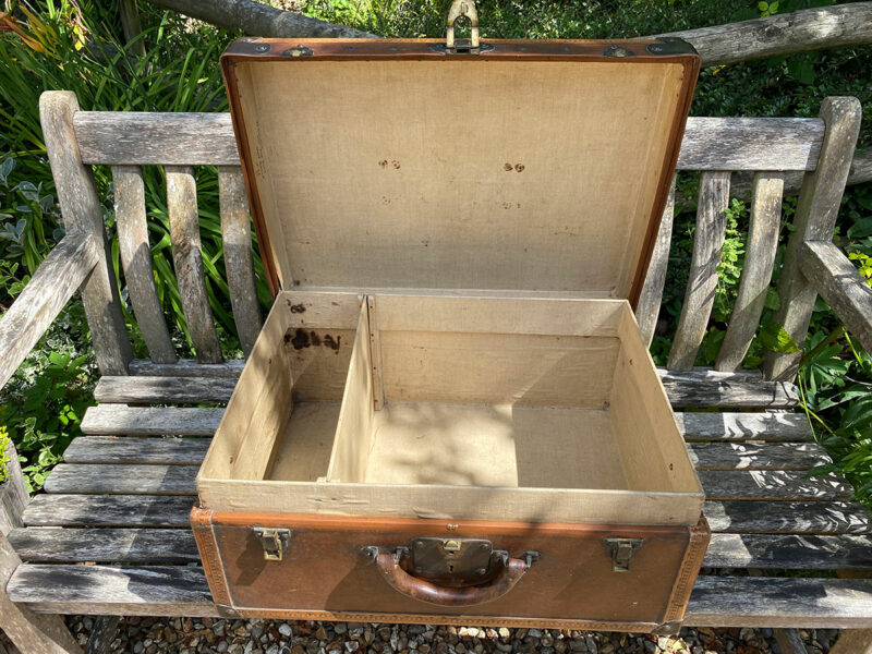 Louis Vouitton Leather Suitcase /Trunk