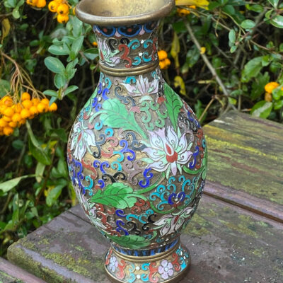 Chinese Champleve Vase