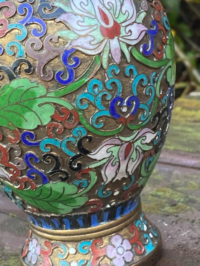 Chinese Champleve Vase