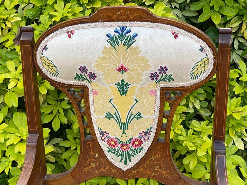 Edwardian Inlaid Mahogany Elbow Chair