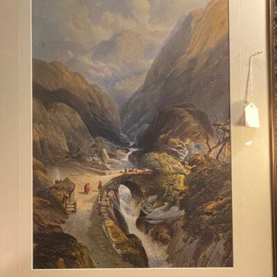 Original Victorian Watercolour by J. M. Richardson