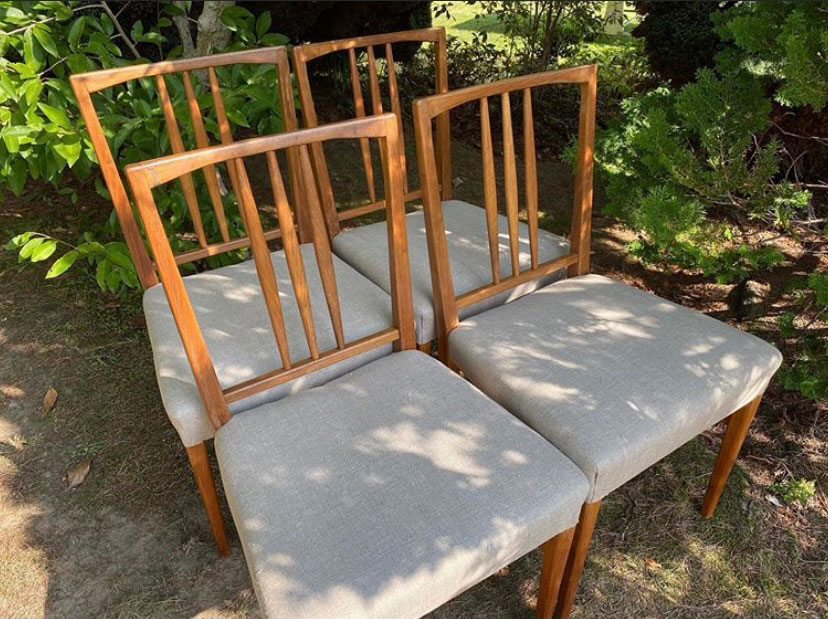 Set of Four Gordon Russell Teak Dining Chairs c1954