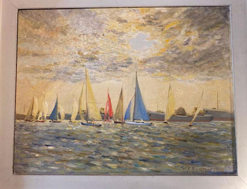 Original Oil Painting by William Francis Burton