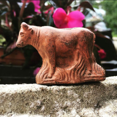 Rare Victorian Terracotta Cow 'Whistle'