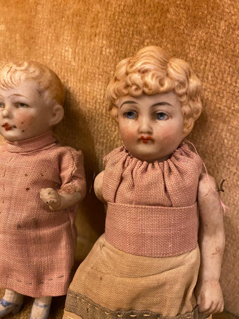Pair of Edwardian Bisque Dolls