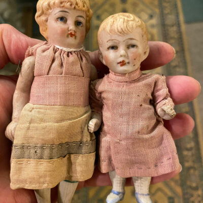 Pair of Edwardian Bisque Dolls