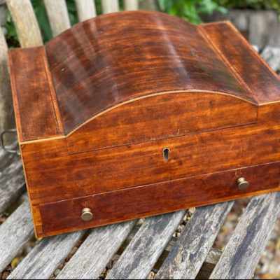 Regency Mahogany Dome Topped Workbox