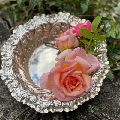 Solid Silver Victorian Repoussé bowl
