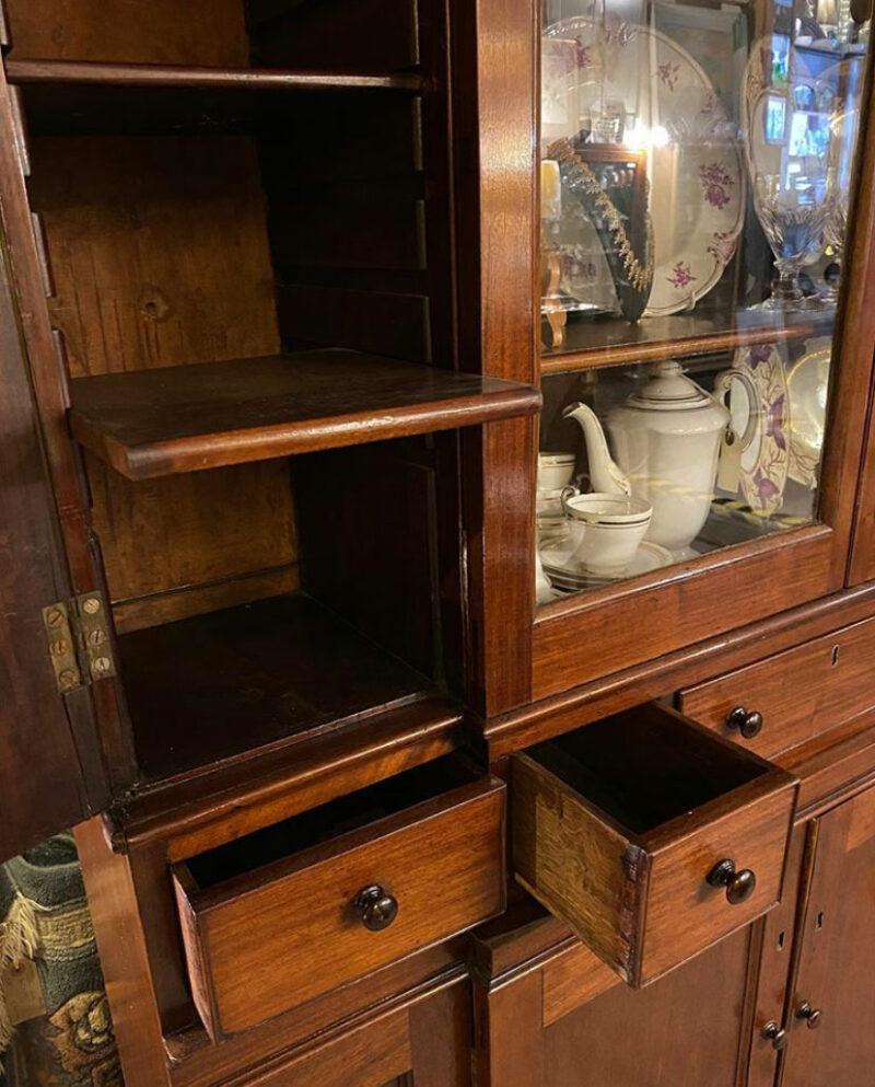 George III (1800) Mahogany Breakfront Library Cabinet