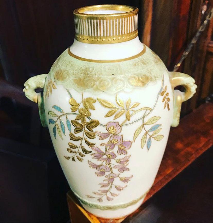 19c Porcelain Gilded Minton Vase