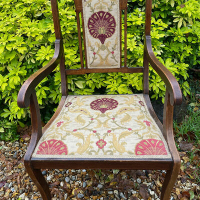 Edwardian Mahogany Elbow Chair