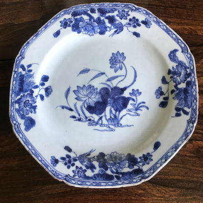 Late 18c Chinese Porcelain Plate. Quinlon