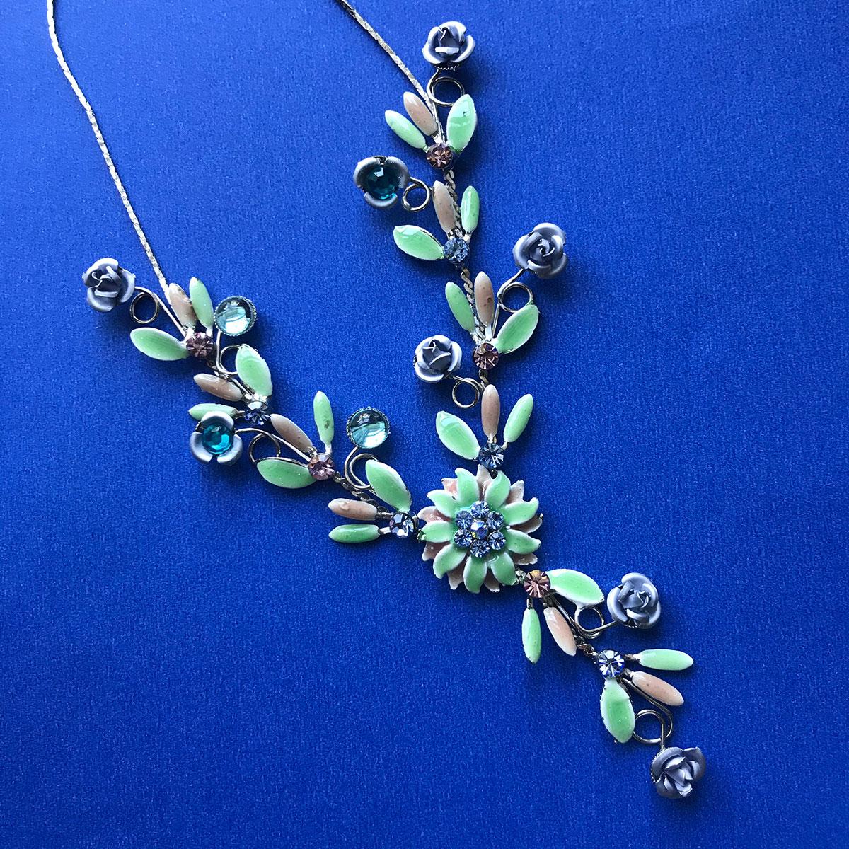 1950's Enamel & Brilliants Necklace