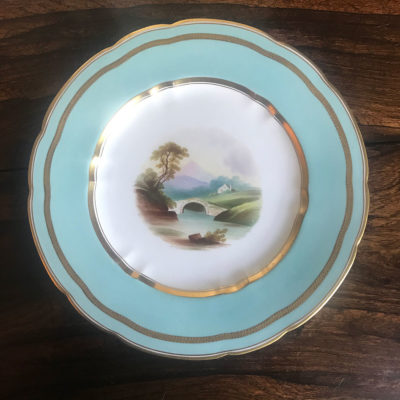 Hand Painted Gilded Early Victorian Cabinet Plate