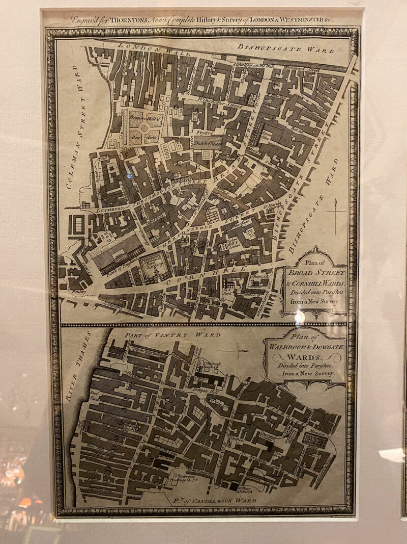Pair of Very Old London Maps - Framed