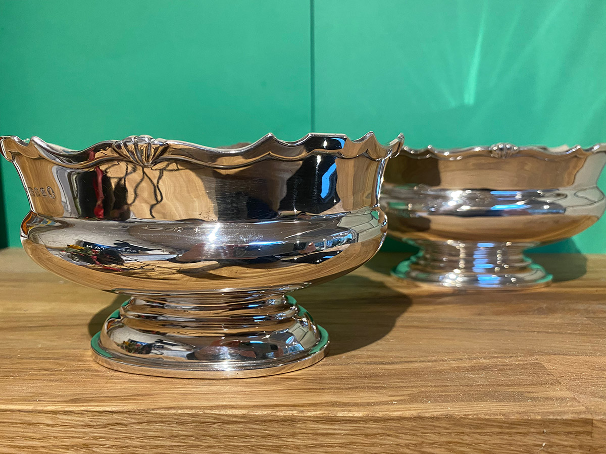 Pair of Solid Silver Oval Bowls