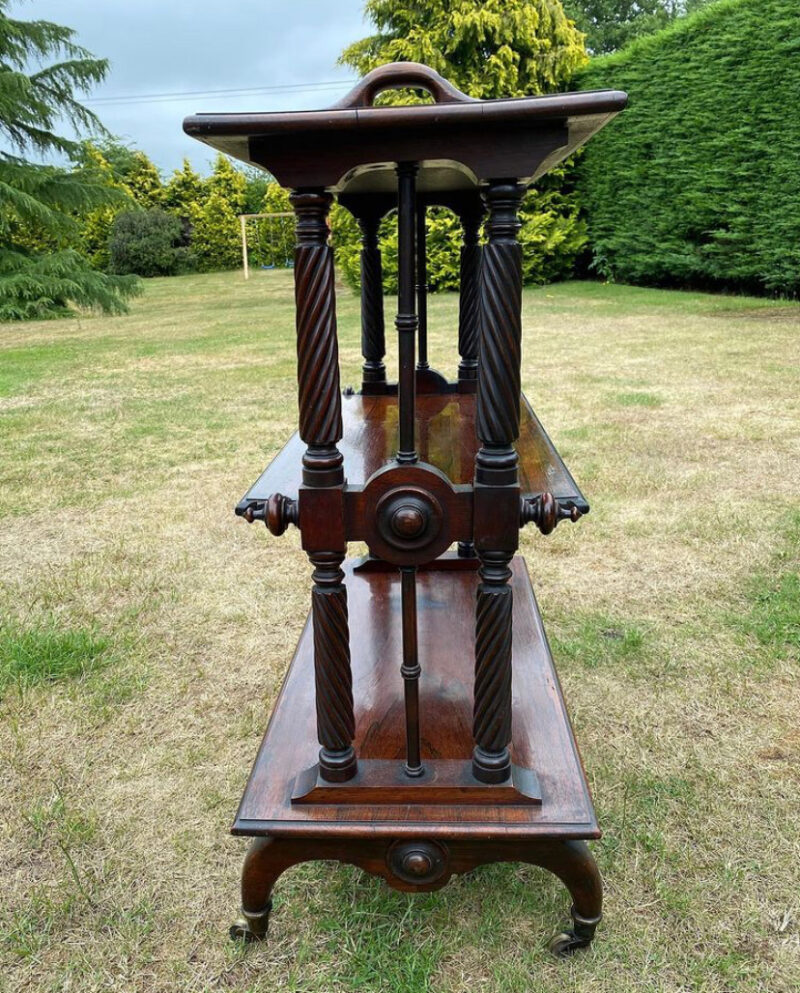 Victorian Rosewood Three Tier Bookcase